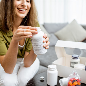 women receiving supplements for clear path wellness online detox and elimination diet program