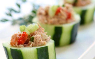 Recipe Rich In Niacin (Vitamin B3) – Tuna Salad Cucumber Boats