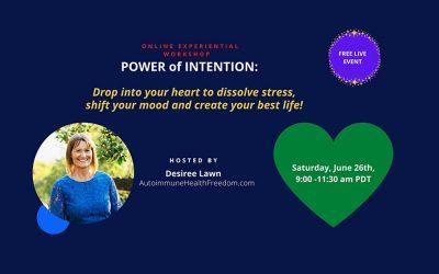 FREE Power of Intention Workshop – Sat, June 26, 2021, 11-1:30 PM CDT